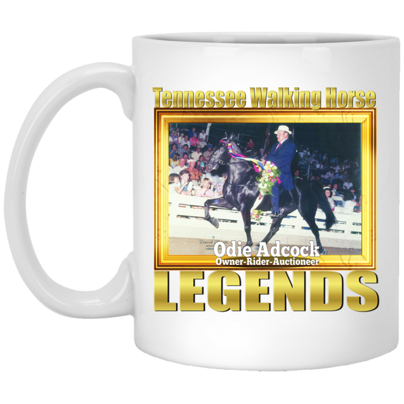 ODIE ADCOCK (Legends Series) XP8434 11 oz. White Mug