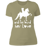 SHE FOUND HER LOVE (American Saddlebred) white art NL3900 Next Level Ladies' Boyfriend T-Shirt
