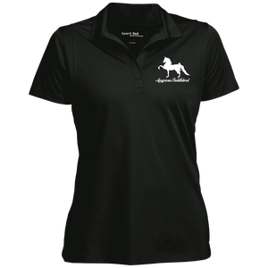 American Saddlebred Design 2 LST650 Sport-Tek Women's Micropique Tag-Free Flat-Knit Collar Polo