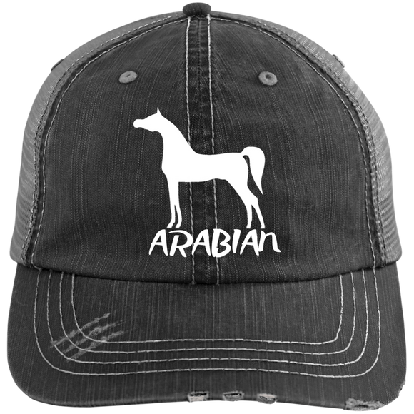 Arabian 6990 Distressed Unstructured Trucker Cap