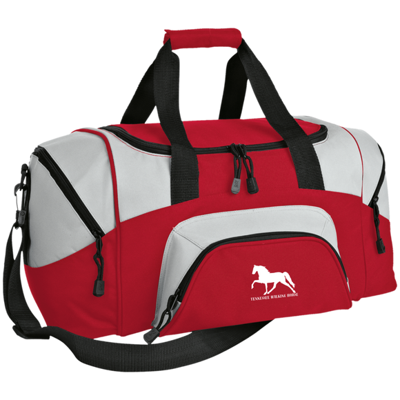 Tennessee Walking Horse (Pleasure) with letters BG990S Small Colorblock Sport Duffel Bag