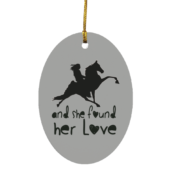 SHE FOUND HER LOVE (TWH performance) black art SUBORNO Oval Ornament