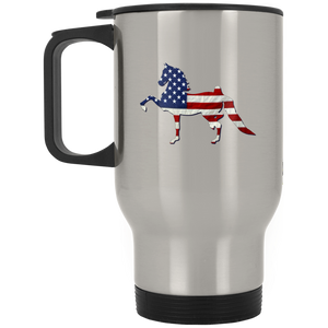 All American Saddlebred XP8400S Silver Stainless Travel Mug