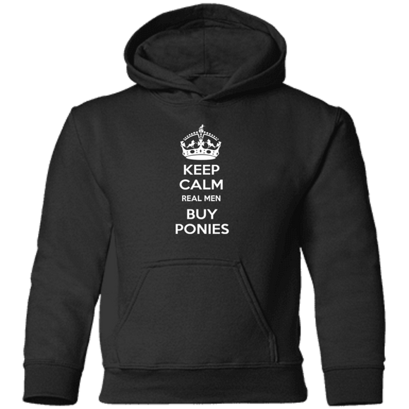 Keep Calm Real Men Buy Ponies (white) CAR78TH Precious Cargo Toddler Pullover Hoodie