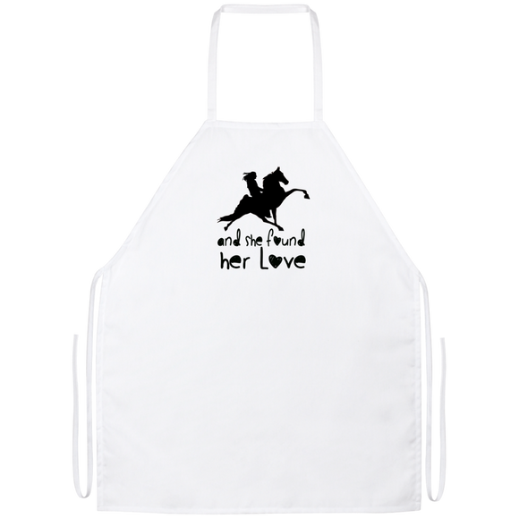 SHE FOUND HER LOVE (TWH performance) black art Apron