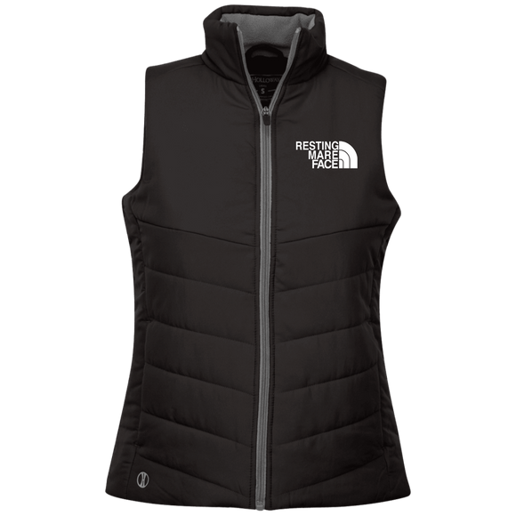 RESTING MARE FACE (white) 229314  Ladies' Quilted Vest
