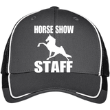 Horse Show Staff C904 Colorblock Mesh Back Cap