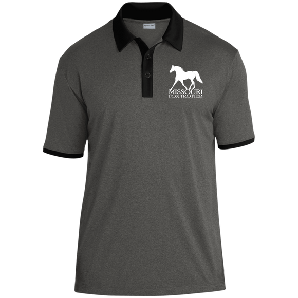 Missouri Fox Trotter ST667 Heather Contender Contrast Polo