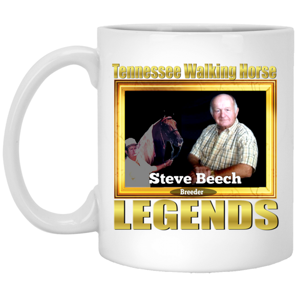 STEVE BEECH (Legends Series) XP8434 11 oz. White Mug
