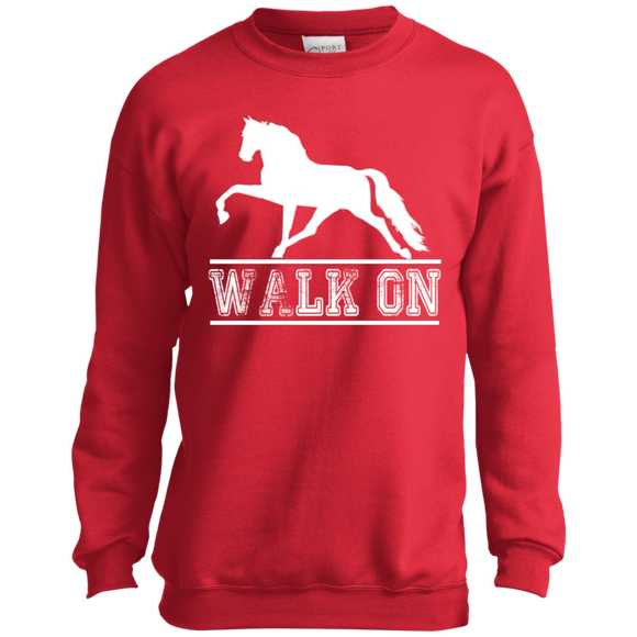 Walk On TWH Pleasure PC90Y Port and Co. Youth Crewneck Sweatshirt