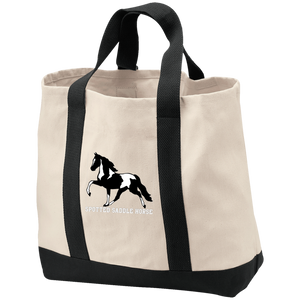 SPOTTED SADDLE HORSE B400 2-Tone Shopping Tote