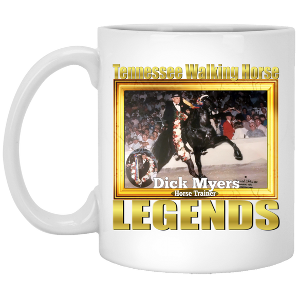 DICK MYERS (Legends Series) XP8434 11 oz. White Mug
