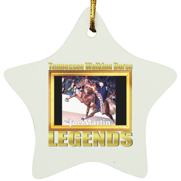 JOE MARTIN (Legends Series) SUBORNS Star Ornament