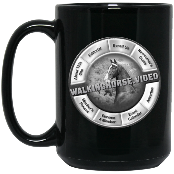 WALKINGHORSE.VIDEO BM15OZ 15 oz. Black Mug