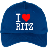 I LOVE RITZ CP86 Five Panel Twill Cap