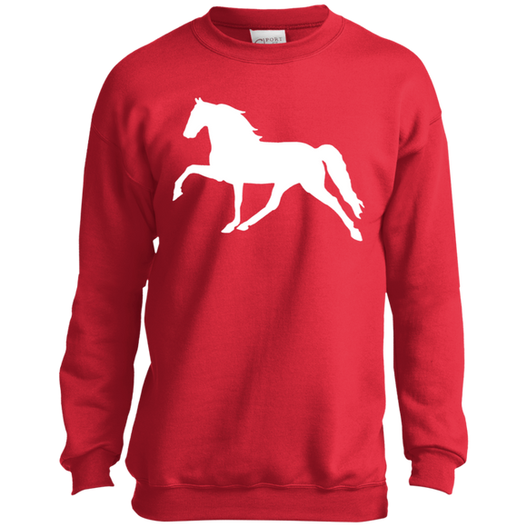 Tennessee Walking Horse (Pleasure) PC90Y Port and Co. Youth Crewneck Sweatshirt