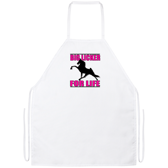 Big Licker for Life Pink Apron