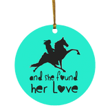 SHE FOUND HER LOVE (TWH performance) black art SUBORNC Circle Ornament