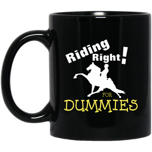 Riding Right for Dummies BM11OZ 11 oz. Black Mug