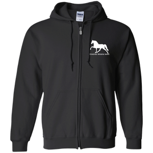 Tennessee Walking Horse (Pleasure) with letters G186 Gildan Zip Up Hooded Sweatshirt