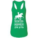 HAPPILY EVER AFTER (TWH Pleasure) Wht NL1533 Ladies Ideal Racerback Tank