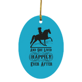 HAPPILY EVER AFTER (TWH Pleasure) Blk SUBORNO Oval Ornament