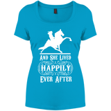 HAPPILY EVER AFTER (TWH Performance) wht DM106L Women's Perfect Scoop Neck Tee