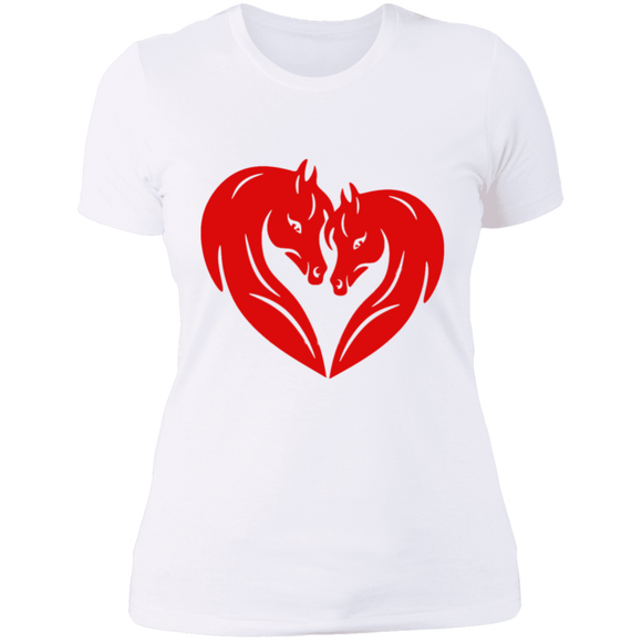 HORSE HEAD HEART NL3900 Next Level Ladies' Boyfriend T-Shirt
