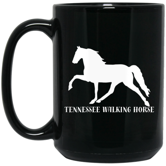 Tennessee Walking Horse (Pleasure) with letters BM15OZ 15 oz. Black Mug