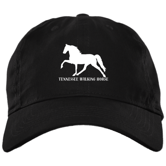 Tennessee Walking Horse (Pleasure) with letters BX880 Twill Unstructured Dad Cap
