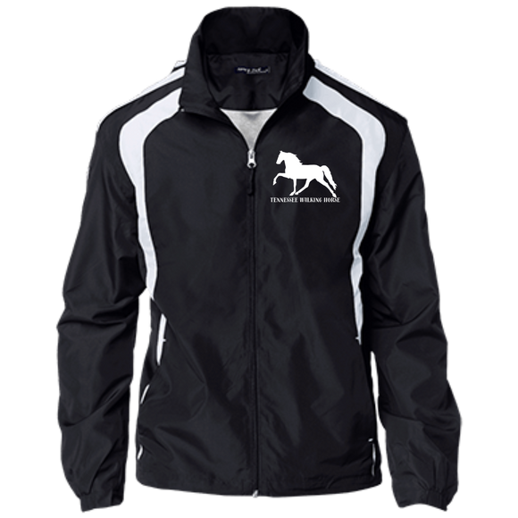 Tennessee Walking Horse (Pleasure) with letters YST60 Sport-Tek Youth Colorblock Jacket
