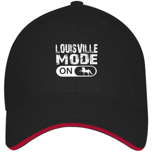LOUISVILLE MODE final 782017 3621 USA Made Structured Twill Cap With Sandwich Visor