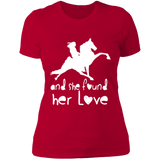 SHE FOUND HER LOVE (TWH performance) white art NL3900 Next Level Ladies' Boyfriend T-Shirt