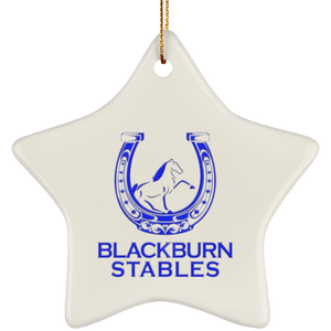 BLACKBURN STABLES (BLUE) SUBORNS Ceramic Star Ornament