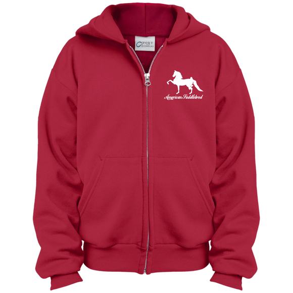 American Saddlebred Design 2 PC90YZH Port & Co. Youth Full Zip Hoodie