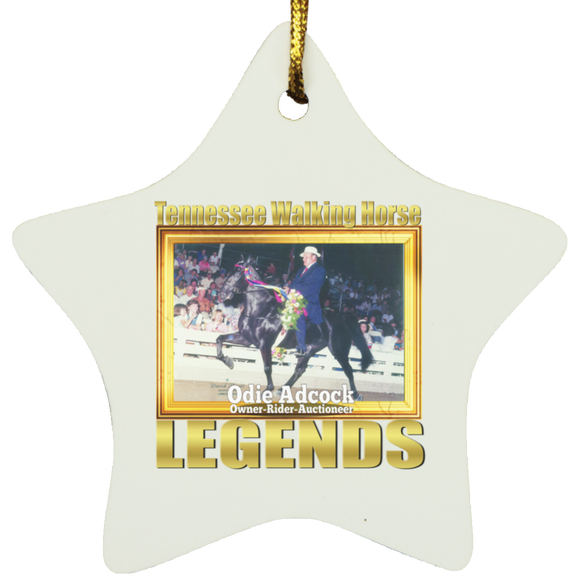 ODIE ADCOCK (Legends Series) SUBORNS Star Ornament