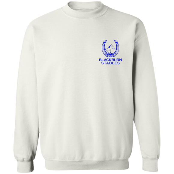 BLACKBURN STABLES (BLUE) G180 Crewneck Pullover Sweatshirt  8 oz.