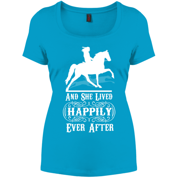 HAPPILY EVER AFTER (TWH Pleasure) Wht DM106L Women's Perfect Scoop Neck Tee