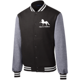 American Saddlebred Design 2 ST270 Sport-Tek Fleece Letterman Jacket