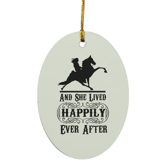 HAPPILY EVER AFTER (TWH Performance) Blk SUBORNO Oval Ornament