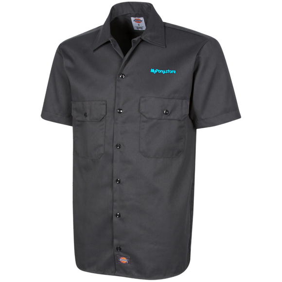 My Pony Store Logo 1574 Dickies Men's Short Sleeve Workshirt