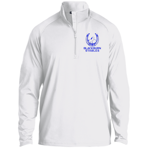 BLACKBURN STABLES (BLUE) ST850 1/2 Zip Raglan Performance Pullover