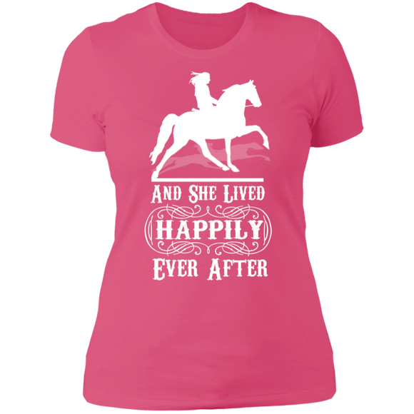 HAPPILY EVER AFTER (TWH Pleasure) Wht NL3900 Ladies' Boyfriend T-Shirt