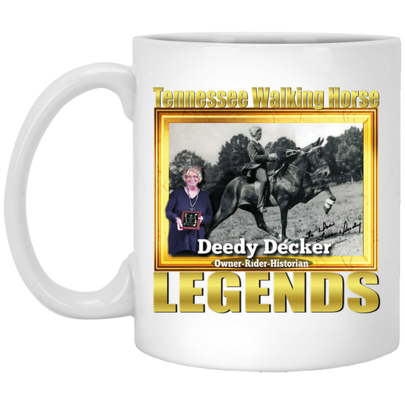 DEEDY DECKER (Legends Series) XP8434 11 oz. White Mug