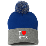 I LOVE RITZ SP15 Pom Pom Knit Cap