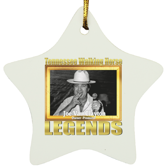JOE VAN CLAYTON (Legends Series) SUBORNS Star Ornament