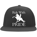 RIDE WITH PRIDE 6297F Flat Bill Twill Flexfit Cap