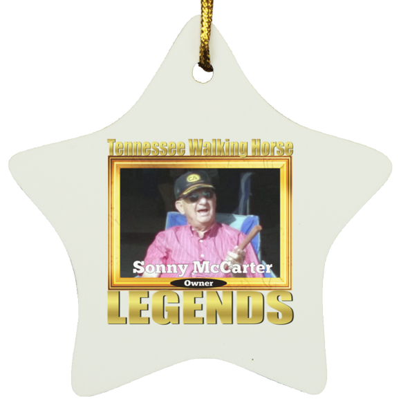 SONNY MCCARTER (Legends Series) SUBORNS Star Ornament