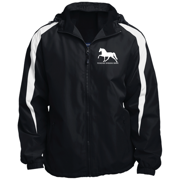 Tennessee Walking Horse (Pleasure) with letters JST81 Sport-Tek Fleece Lined Colorblocked Hooded Jacket