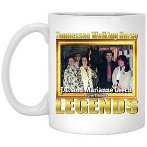 JT AND MARIANNE LEECH (Legends Series) XP8434 11 oz. White Mug